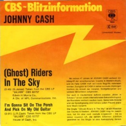 (Ghost) Riders In The Sky (promo sleeve)