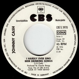 I Hardly Ever Sing Beer Drinking Songs (CBS 3970) promo