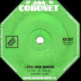 I Still Miss Someone (Coronet KS 307) Australia variant 2