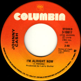 I'm Alright Now (Columbia 3-10817)