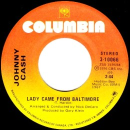 Lady Came From Baltimore (Columbia 3-10066)