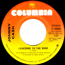 Lonesome To The Bone (Columbia 3-10066)