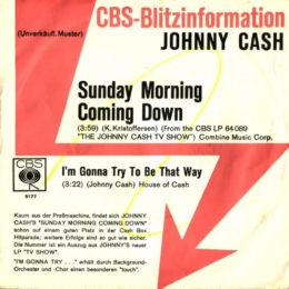 Sunday Morning Coming Down German promo sleeve front