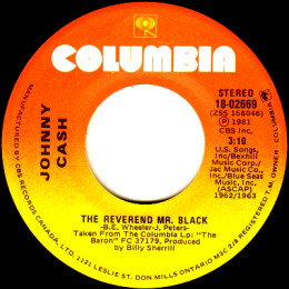 The Reverend Mr. Black (Columbia 18-02669)