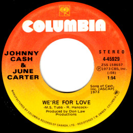 We're For Love (Columbia 4-45929)