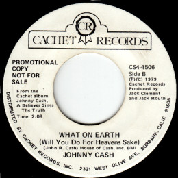 What On Earth Will You Do (Cachet CS4-4506) promo