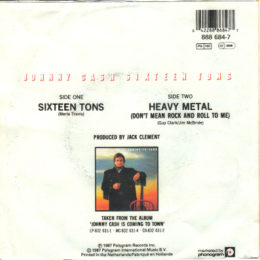 Sixteen Tons - rear sleeve