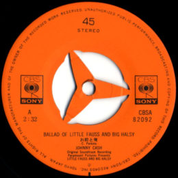 Ballad Of Little Fauss and Big Halsy (CBS A 82092)