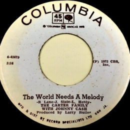 The World Needs A Melody (Columbia 4-445679)